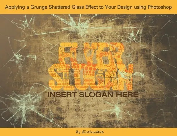 sglass fimg - Applying a Grunge Shattered Glass Effect to Your Design using Photoshop