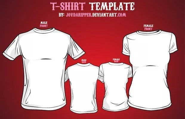 Free vector t shirt templates mameara for Business cards for t shirt business