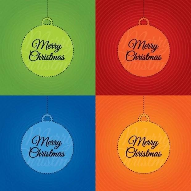 xmas large vectorgab - Color Christmas Card Vector