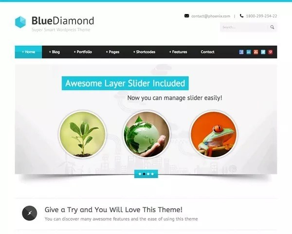 best wordpress theme bluediamond - Best WordPress Themes | Clean Responsive Designs