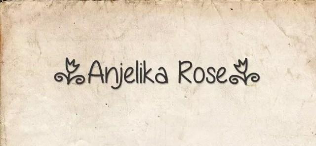 Anjelika Rose font - Free Handwritten Fonts