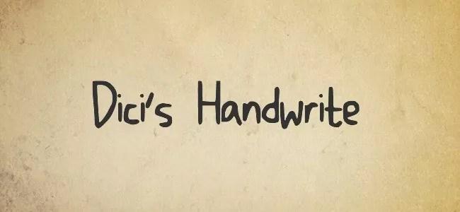 Dicis Handwrite - Free Handwritten Fonts