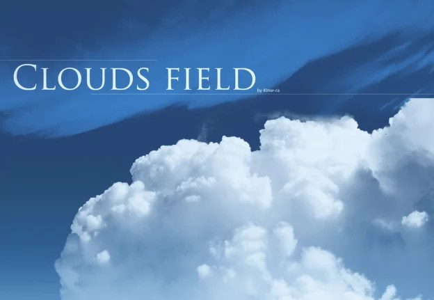 brushes   clouds   field by kime ra d3k0xfj 624x431 - 30+ Free Photoshop Cloud Brushes