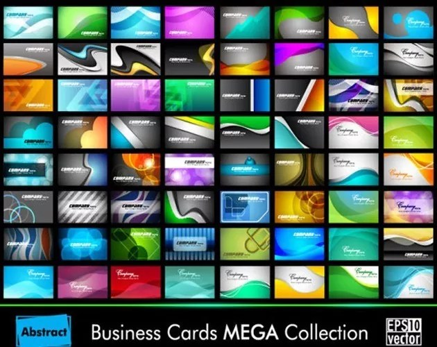 bcard l - Large Collection Of Business Cards Vector