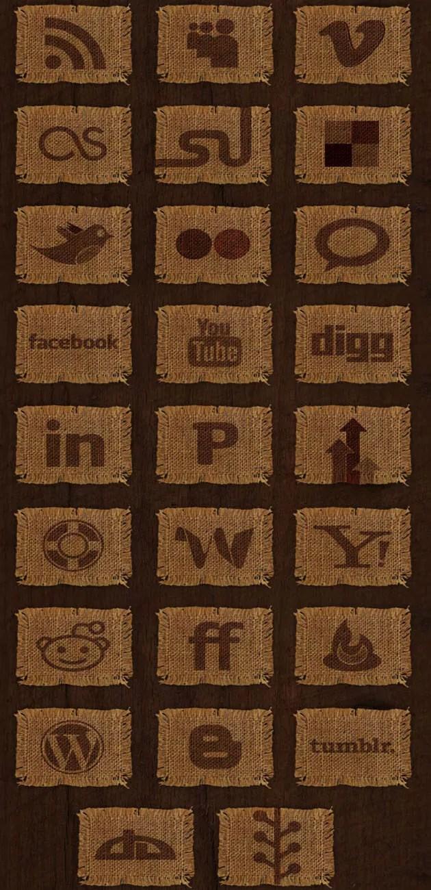 media l - Woven Fabric Social Media Vectors