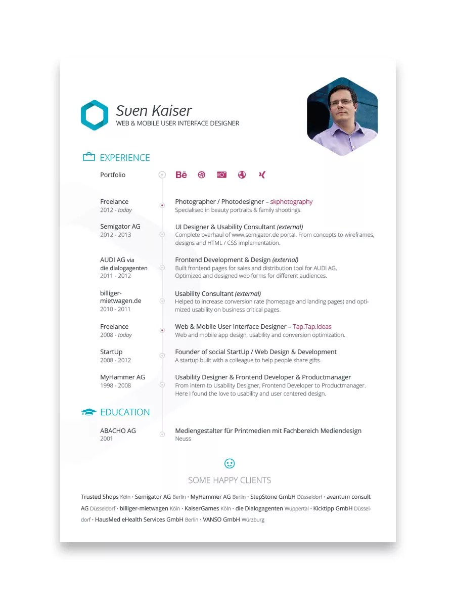 Creative Resume Designs That Can Get You Hired – Part 2