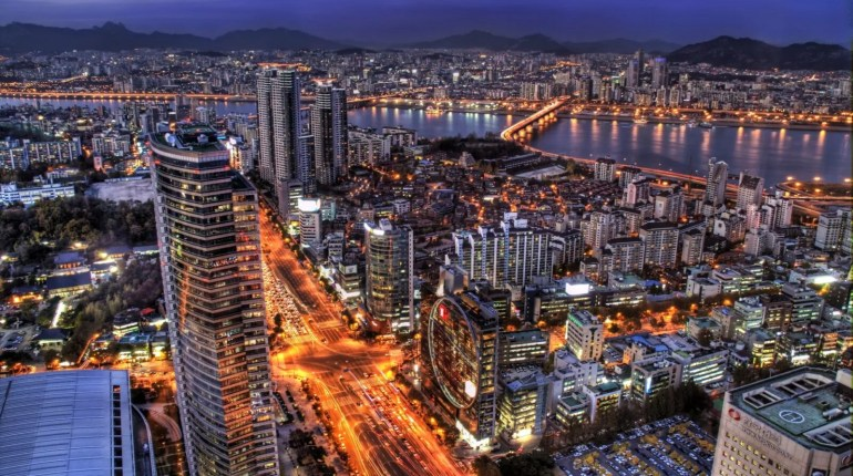 City Night Of Seoul Wallpaper Desktop Wide HD - 20 Free HD Cities Wallpapers