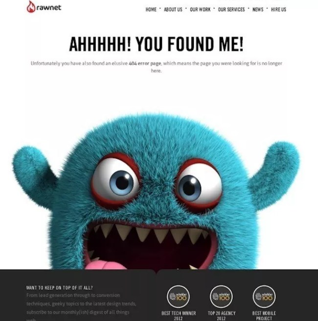 screen capture 124 - 22 Creative 404 Error Page Designs