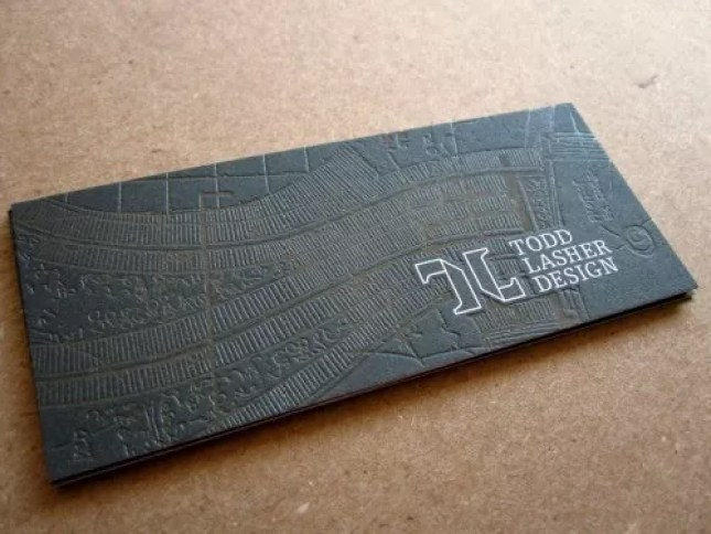 todd lasher - 35 Architect Business Card Designs For Inspiration