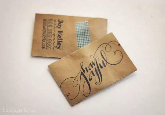 howjoyful business cards 4 1 - Handmade Business Card Designs