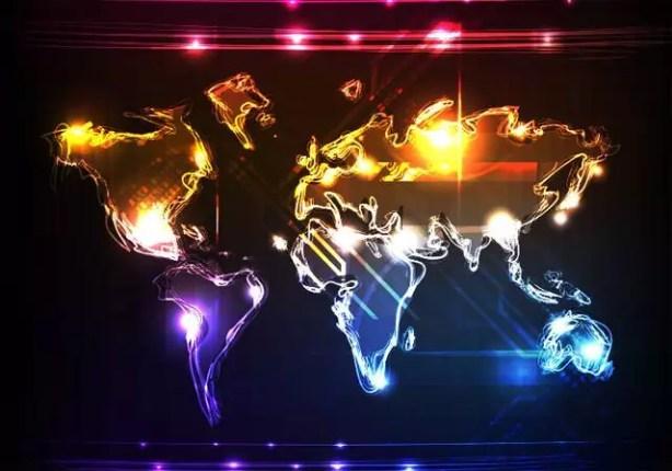 Light World Map Vector