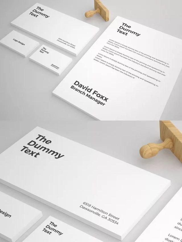 17PSDMockupDesign - 60+ Branding, Identity & Stationery Free PSD Mockups