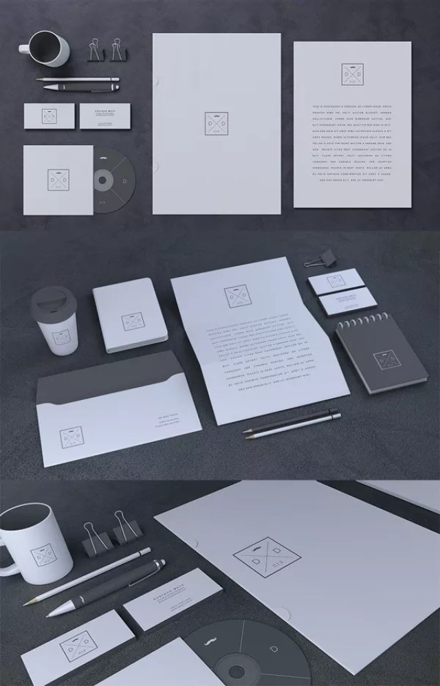 Blank Stationery Branding Mock Up - 60+ Branding, Identity & Stationery Free PSD Mockups