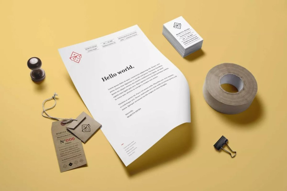 Branding Identity MockUp Vol14 full e1515572985699 - 60+ Branding, Identity & Stationery Free PSD Mockups