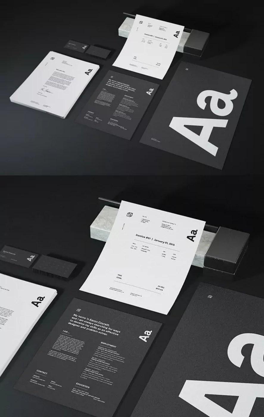 Free Identity Suite Mockup - 60+ Branding, Identity & Stationery Free PSD Mockups