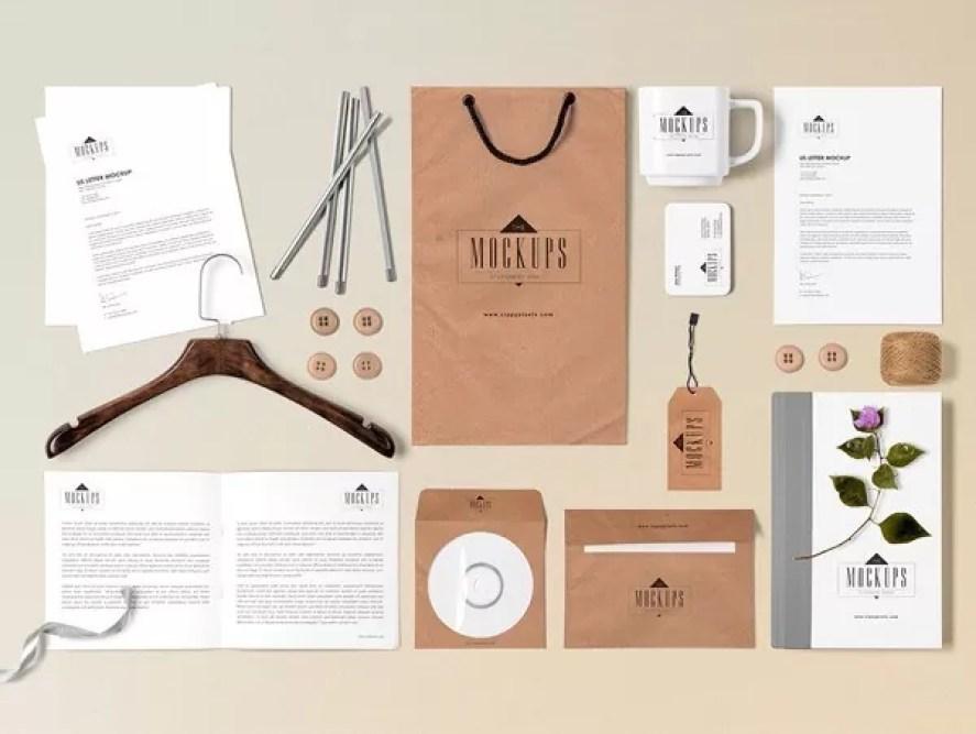 Free Stationery Mock Up Scene Builder - 60+ Branding, Identity & Stationery Free PSD Mockups