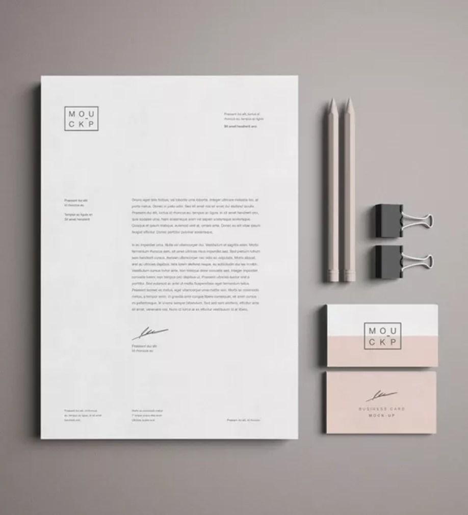 FreePSDMockup004 - 60+ Branding, Identity & Stationery Free PSD Mockups