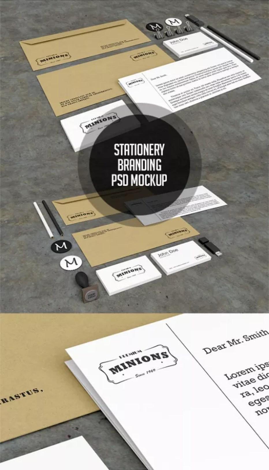 FreeStationeryPSDMockups 587x1024 - 60+ Branding, Identity & Stationery Free PSD Mockups