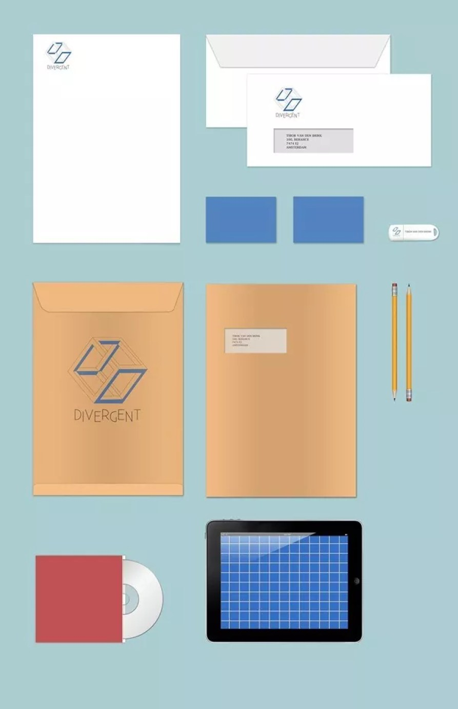 Stationary Branding Mock Up Free PSD - 60+ Branding, Identity & Stationery Free PSD Mockups