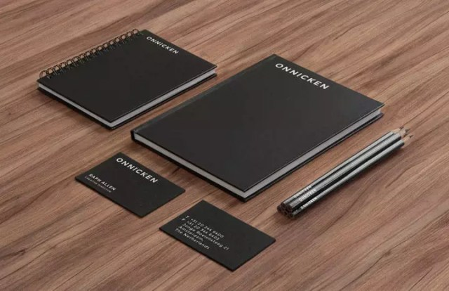 Stationery MockUp – Black Paper on Wood e1515573928585 - 60+ Branding, Identity & Stationery Free PSD Mockups