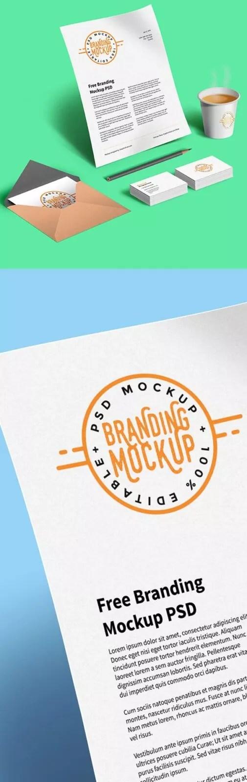 branding mockup psd design 323x1024 - 60+ Branding, Identity & Stationery Free PSD Mockups