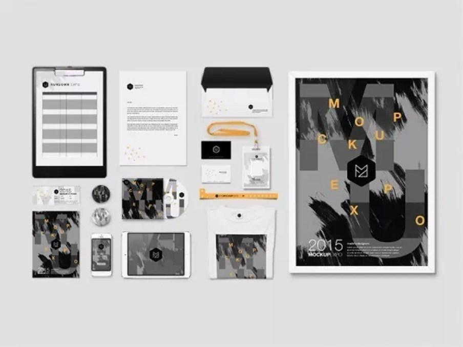 freepsdfiles12 - 60+ Branding, Identity & Stationery Free PSD Mockups