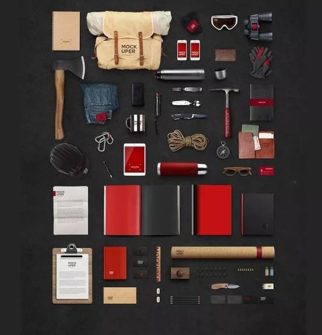 travel branding mockup hipster psd - 60+ Branding, Identity & Stationery Free PSD Mockups