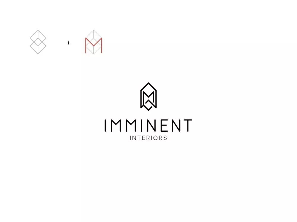 Imminent Interiors Architect Branding e1519120382497 - Architecture Logo Design Examples for Inspiration