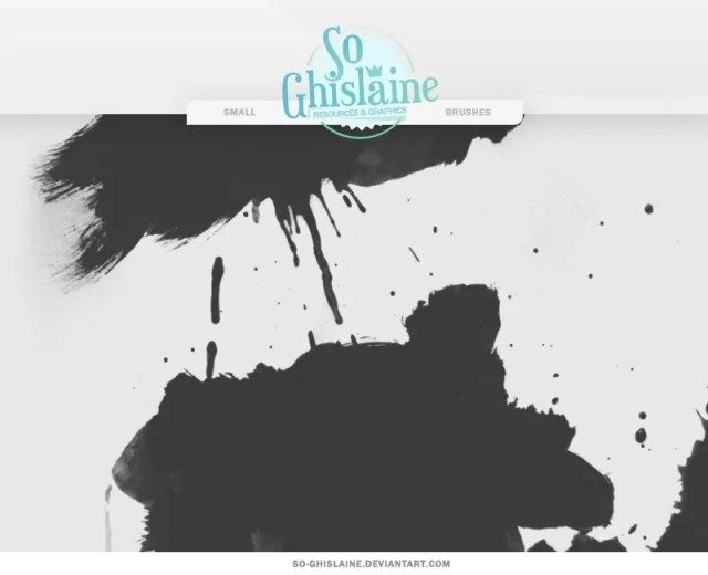 Paint Splashes Brushes - Free Ink and Watercolor Brush Sets for Photoshop