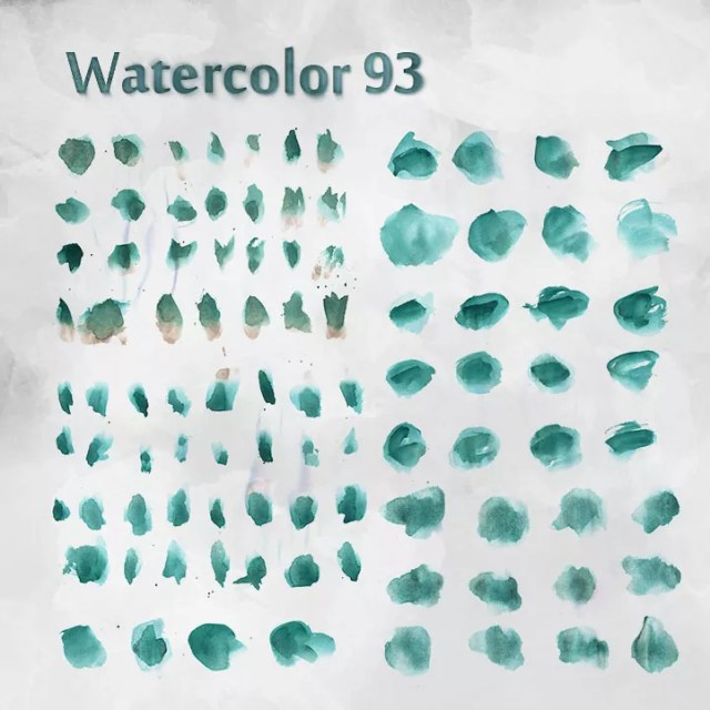 watercolor free bushes - Free Ink and Watercolor Brush Sets for Photoshop