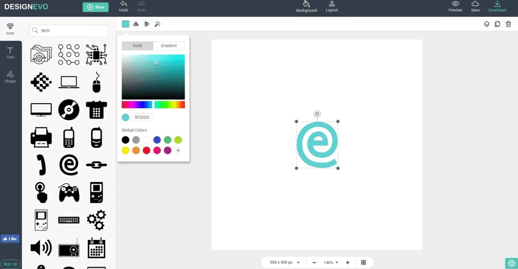 word image 1 - Make Professional Logos Online with DesignEvo Logo Maker