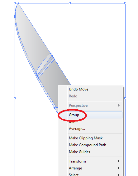 T81 10 - Creating your Very Own Knife Vector Icon in Illustrator