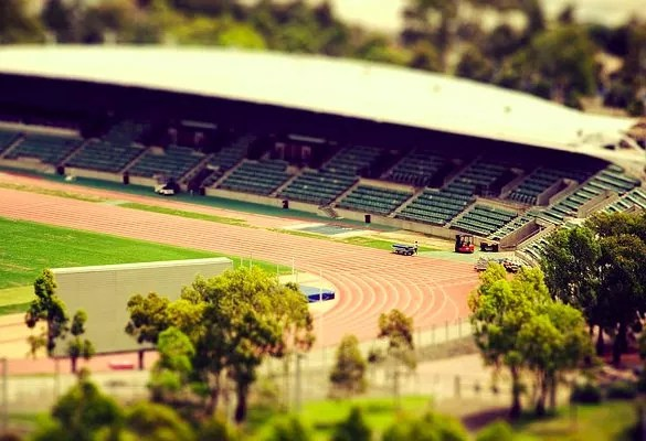 summer mini stadium - 30+ Awesome Examples of Tilt-Shift Photography