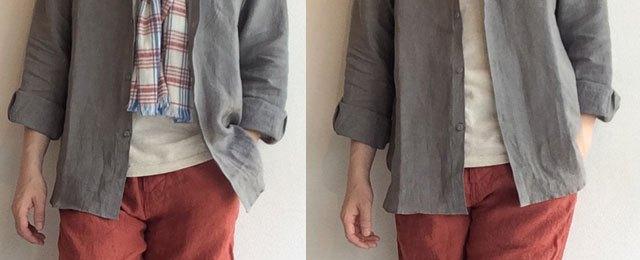 プチウイングカラーシャツ
