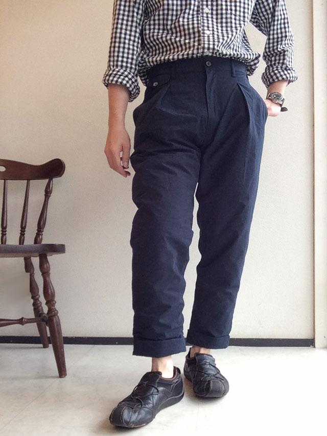 Padding Traveller Trousers Navy