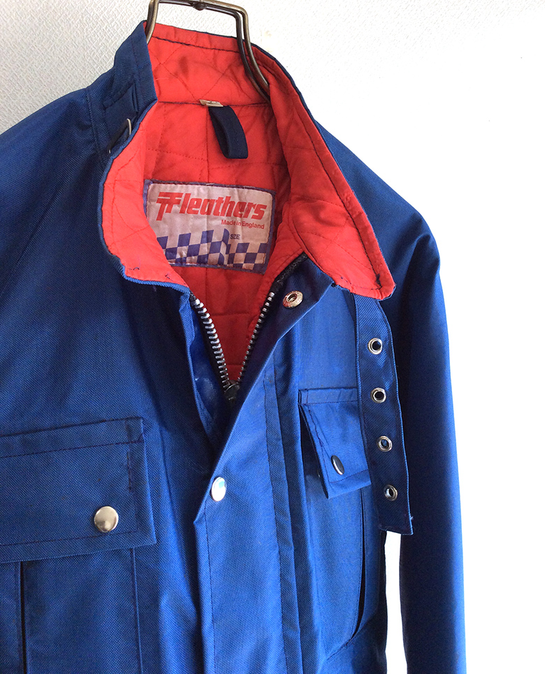1970's British Nyron Riders Blouson by TT Leather Navy