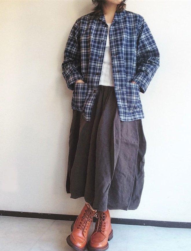 workersショールカラーインディゴジャケット