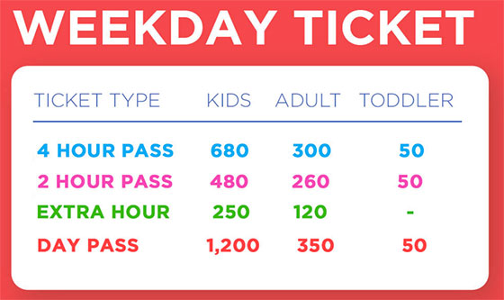 Dreamplay Ticket Rates