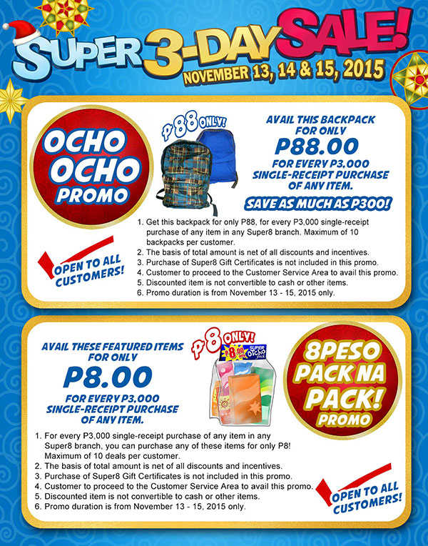Super8 Super 3 Day Sale