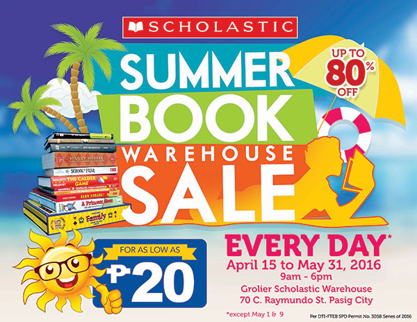 Scholastic Summer Book Warehouse Sale