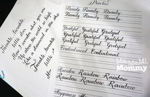 Learning Calligraphy at Crafters and Scrappers