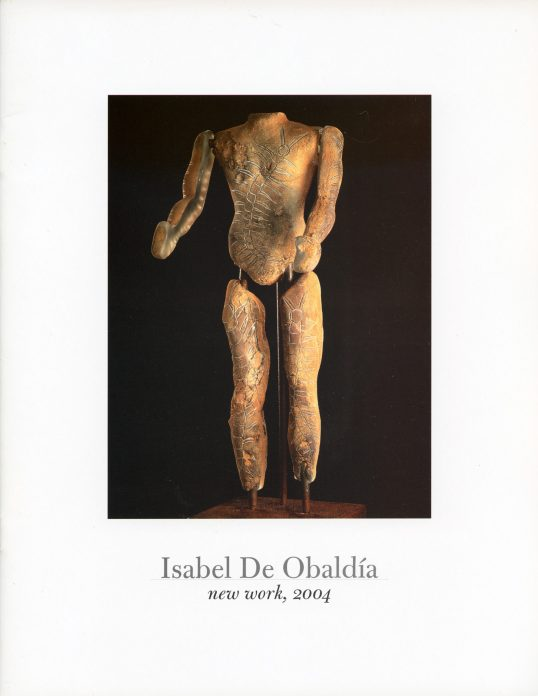 The cover of a catalogue of the work of Isabel De Obaldia