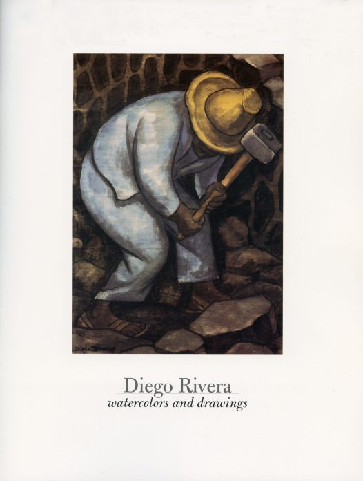 The cover of a catalogue of drawings by Diego Rivera.