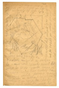 Pencil sketch of a Renaissance painting with extensive notes