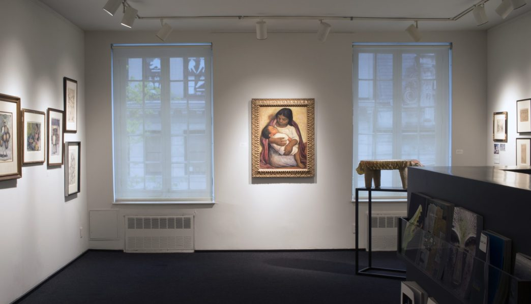 Installation shot of the front gallery