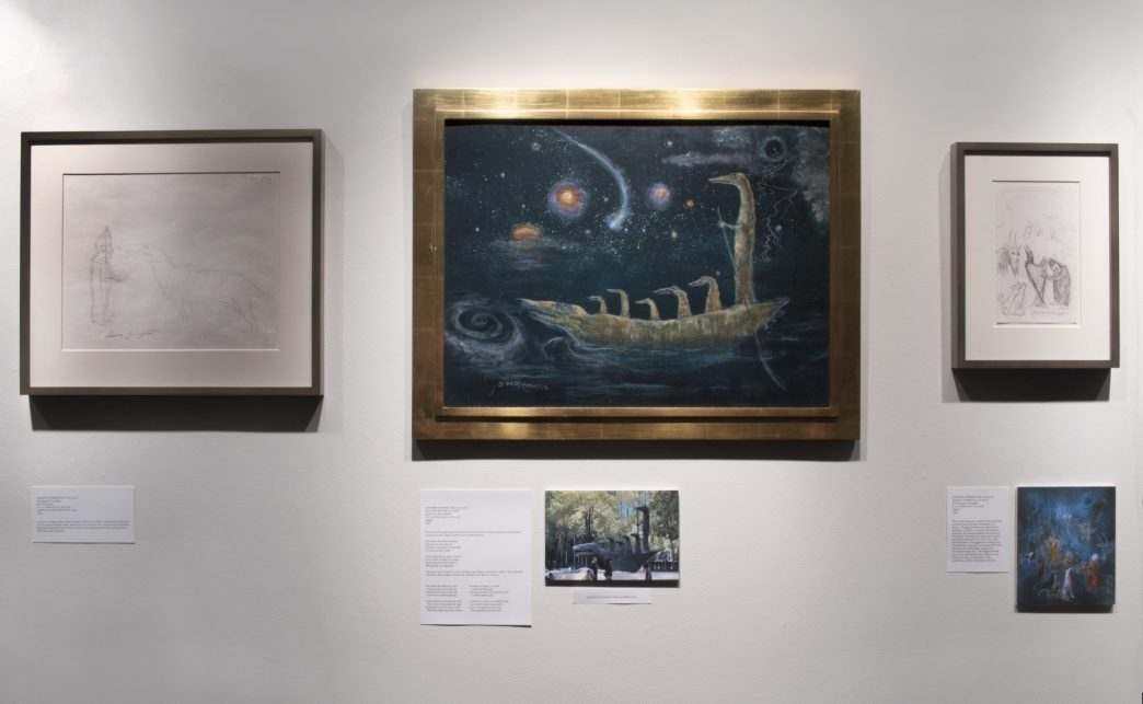 Installation shot of a Leonora Carrington show in the front gallery