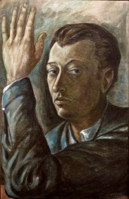 A self portrait by Gunther Gerzso, painted in oil.
