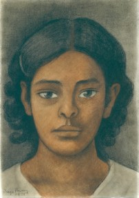 A watercolor depicting a young Mexican girl.