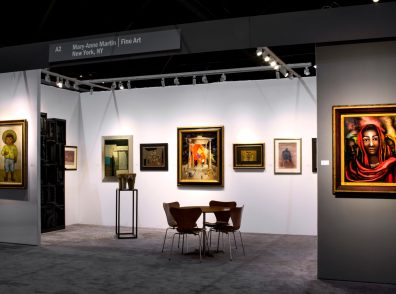 Installation shot of the gallery's booth at the ADAA Art Show 2017