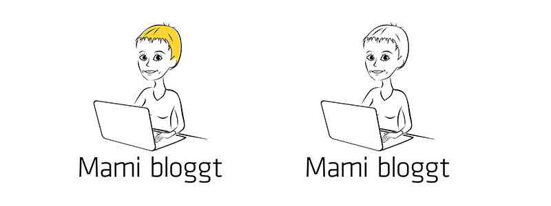 Mami bloggt Logo blond oder nicht blond